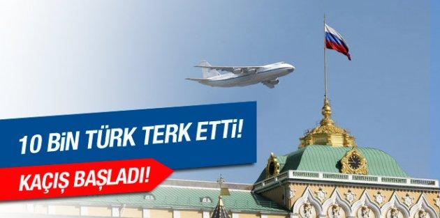 Rusya'dan kaçış! 10 bin Türk ülkeyi terk etti!