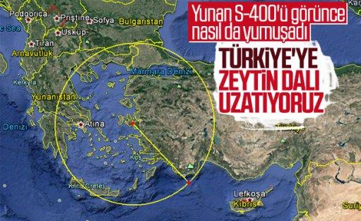 S-400'den korkan Yunan 'zeytin dalı' uzattı