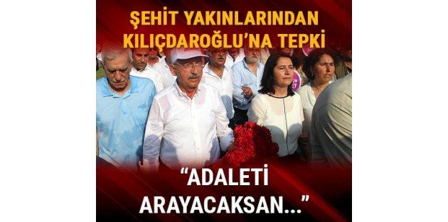 Şehit yakınları ve gazilerden Kılıçdaroğlu'na: Adaleti burada ara