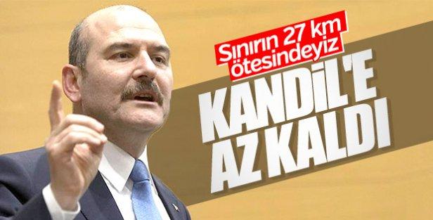 Soylu,Mehmetçik Kandil'e doğru ilerliyor