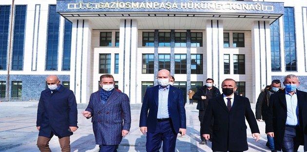 Süleyman Soylu Gaziosmanpaşa'da Kaymakamlık binasını ziyaret etti!