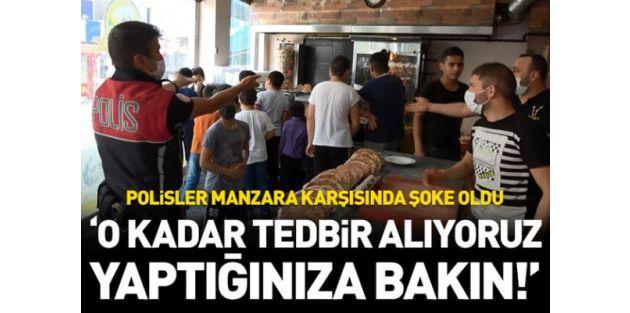 Sultangazide bedava döner dağıtıldı, sosyal mesafe hiçe sayıldı