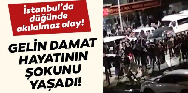 Sultangazi'de düğünde takı kavgası caddeye taştı