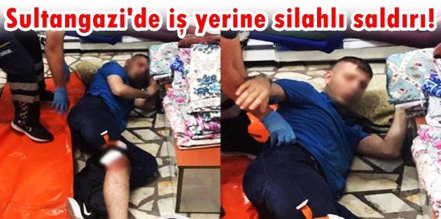 Sultangazi'de iş yerine silahlı saldırı! 1'i kadın 3 kişi yaralandı