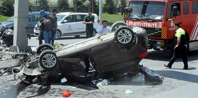 Sultangazi'de kaza: 1 yaralı