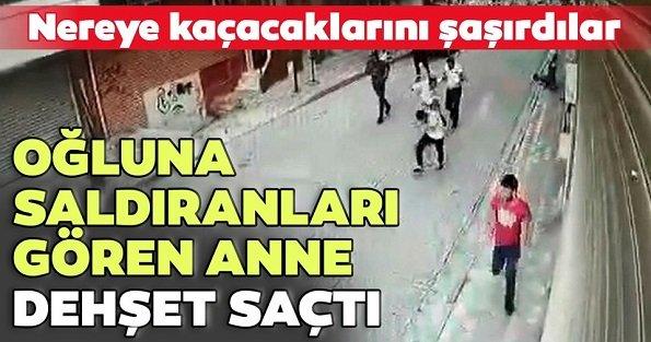 Sultangazi'de oğlu saldırıya uğrayan anne bıçaklı çeteye böyle kurşun yağdırdı