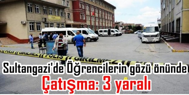 Sultangazi'de Öğrencilerin gözü önünde okul bahçesinde çatışma: 3 yaralı