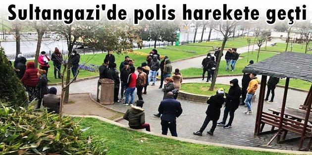 Sultangazi'de polis harekete geçti: Parkta toplanan günübirlik işçiler evlerine gönderildi
