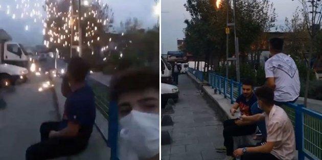 Sultangazi'de tehlikeye aldırış etmeden selfi çektiler