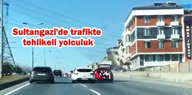 Sultangazi'de trafikte tehlikeli yolculuk