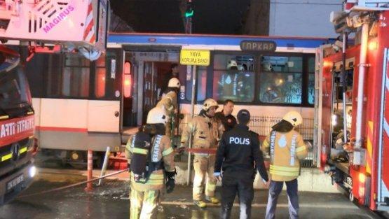 Sultangazi'de tramvayda yangın