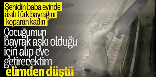 Sultangazi'de Türk bayrağını koparan kadın: Özür diliyorum