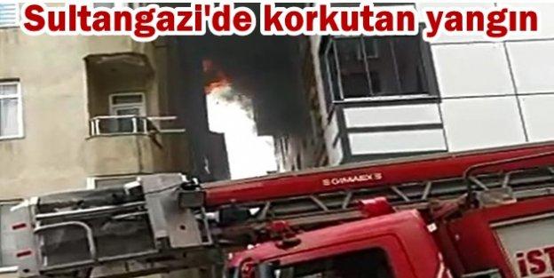 Sultangazi'de yangında engelli anne ve kızını komşuları kurtardı