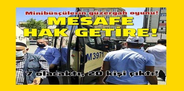 Sultangazide yine aynı görüntü: Minibüsten 20 fazla yolcu çıktı