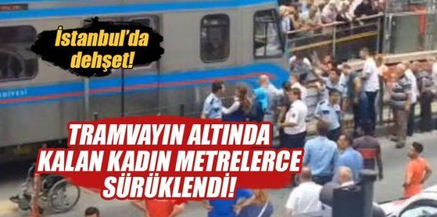 Sultangazi'de yolun karşına geçmek isteyen kadına tramvay çarptı