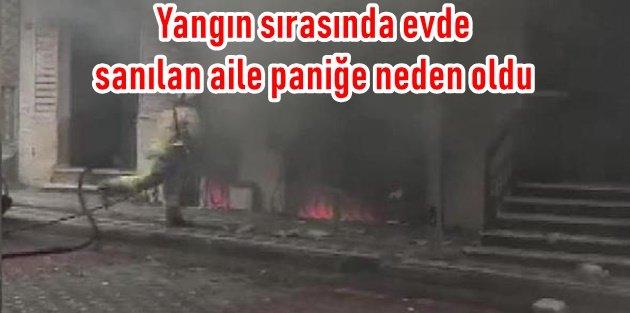 Sultangazideki Yangında çocuklar Mahsur Kaldı Paniği