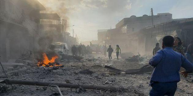 Suriye'nin kuzeyinde bombalı terör saldırısı: 10 ölü