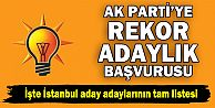AK Parti İstanbul aday adayları listesi