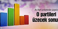 Ak Parti'nin anketinde 3 partiye şok!