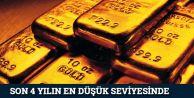 Altın fiyatı 4 yılın en düşük seviyesinde