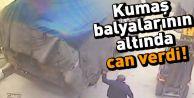 Arnavutköy'de üzerine kumaş balyaları devrilen kişi öldü