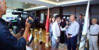 Başkan Altunay Şampiyon Sporcuları Makamında Ağırladı
