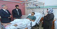 Başkan Aydın Filistinli Genci Hastanede...