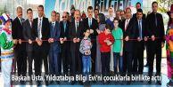 Başkan Usta, Yıldıztabya Bilgi Evi'ni çocuklarla birlikte açtı