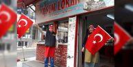 BAYRAMPAŞA'DA AFRİN'DEKİ MEHMETÇİĞE 'BAYRAKLI' DESTEK