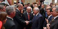 Cumhurbaşkanı Erdoğan ile Bahçeli arasında rozet diyaloğu