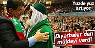 Davutoğlu Diyarbakır'da müjdeyi verdi
