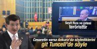 Davutoğlu'ndan Bahçeli'ye: Bu sözleri Tunceli'de söyledi