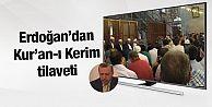 Erdoğan şehitler için Kur'an-ı Kerim...