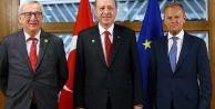 Erdoğan'ın Tusk ve Juncker ile yaptığı görüşmede 'mülteci anlaşması' konuşuldu