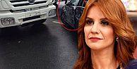 Esra Erol Gaziosmanpaşa'da trafik kazası geçirdi