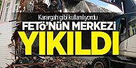 Eyüp Belediyesi FETÖ'cülerin konağını yıktı