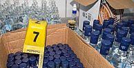 Eyüp'te sahte içki operasyonu: Yüzlerce şişe ele geçirildi