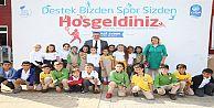 Eyüp'teki Okullara Sportif Malzeme Desteği