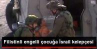 Filistinli Engelli çocuğa İsrail kelepçesi