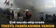 Gaziomanpaşa'da tekstil fabrikasında yangın