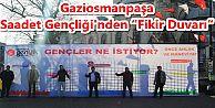 """Gaziosmanpaşa Saadet Gençliği'nden """"Fikir Duvarı"""""""