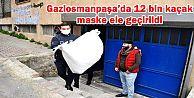Gaziosmanpaşa'da 12 bin kaçak maske...