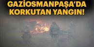 Gaziosmanpaşa'da bir ev alev alev yandı...