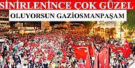 """Gaziosmanpaşa'da """"demokrasi yürüyüşü"""" yapıldı"""