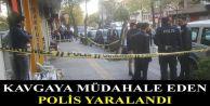 Gaziosmanpaşa'da kavgayı ayırmak isteyen polis bıçakla yaralandı