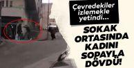Gaziosmanpaşa'da sokak ortasında kadını...