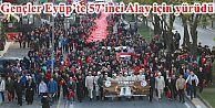 Gençler Eyüp'te 57'inci Alay için yürüdü