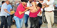 HDP'lilere polisten sert müdahale!