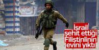 İsrail şehit ettiği Filistinlinin evini...
