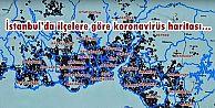 İstanbul'da ilçelere göre koronavirüs haritası...